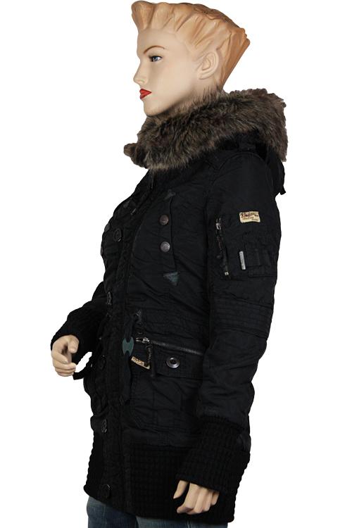 Khujo CILLE Winterjacke Jacke Parka Mantel Schwarz Black